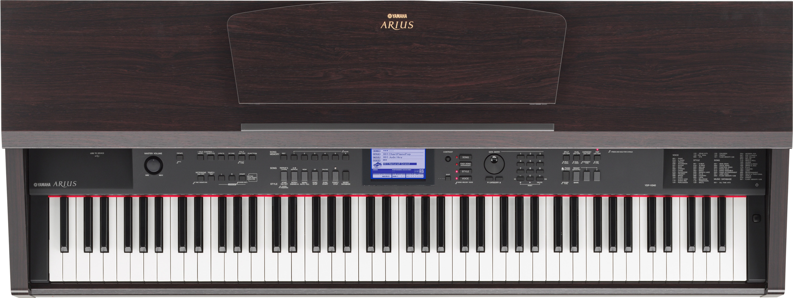 yamaha arius ydp v240 review why this keyboard is so good. Black Bedroom Furniture Sets. Home Design Ideas