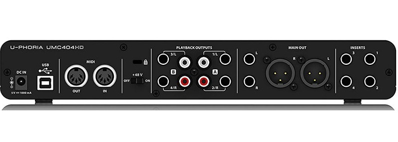 behringer audio interface 4 channel